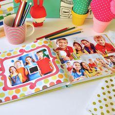 Un año del cole en imágenes. Creá tus propios anuarios escolares con las fotos de tus chicos durante todo el año escolar. Descarga gratis!