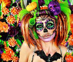 My Sexy Halloween Photoshoot❤ / Beverly Hills Honeys (lindsay marie,sexy,zombie,halloween,wig,makeup,eyes,lips,eyeshadow,skull)