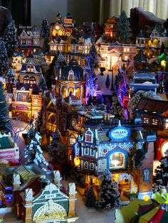 Looking toward the church on the hill, 2009 Christmas Village by Mastery of Maps, via Flickr