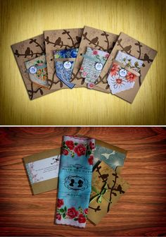 Save the date hankercheifs by Rachel from Benign Objects, on Etsy.#hankerchiefs