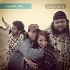 #Timehop One of my favorite pics of Pickles n the gang. Waking up on the beach was beautiful. I can still taste the sand in my mouth and the smell of damp, salty air. #southpadre