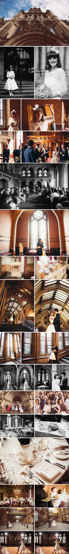 Manchester Town Hall, Manchester - Wedding Day Photos #TownHall #Manchester #Wedding #couple #married #gardens #flowers #WDP #venue #WeddingVenue #inspiration #Ideas #bridal #portrait #bride #groom #rings #TableSetting #ceremony #stairs #hall #nighttime #lights #fairylights #arches #confetti #FirstDance #candy #sweets