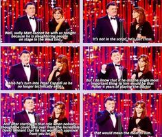 Jenna-Louise Coleman and Steven Moffat at the National Television Awards