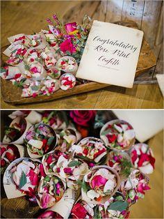 rose petal confetti @weddingchicks