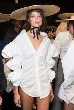Jacquemus, spring 2017.  -  #fashion #style #clothing #apparel #streetfashion #streetstyle #outfits #womenswear #womensfashion #fashionweek #fashionshow #womensstyle #couture #womensapparel #fashionphotography #fashionista #wear #beauty #wearable #stylish #streetwear #fashiondetails #Accessories #costume #garment #shop #Wardrobe #vogue #studio #shoppingonline #onlinestore #stylist #prints #minimal #wearableart #minimalism #minimalist #chic  #styling  #shirt #tshirt #whiteshirt #hat