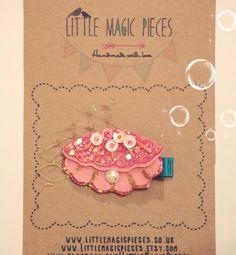 Clamshell Seashell Hair Clip Hair Clip Summer por LittleMagicPieces, £8.47