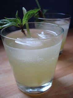 On 3 thai basil leaves 1/2 teaspoon sugar 2 ounces lemongrass infused ...