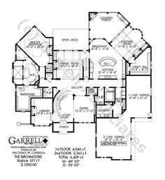 Birchmoore House Plan 07117, 1st Floor Plan, French Style House Plans, Traditional Style House Plans