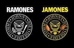 El sello de los Ramones, 'castellanizado' por Antonio de Felipe. Smile Smile, Ramones, Porsche Logo, Logos, Advertising, Stamps, Logo