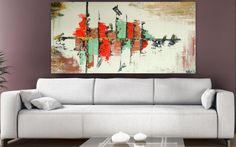 Large Abstract Painting acrylic Painting Landscape by Itisfine, £165.00