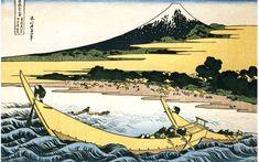 bridge at Awate - Hokusai