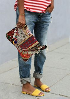sac pochette ethnique mode
