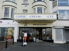 Brucciani's, 217 Marine Road Central, Morecambe, Lancashire  Photo by Les Prosser