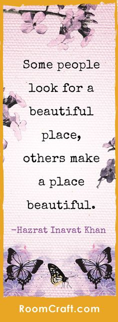 """Some people look for a beautiful place, others make a place beautiful."" Inspire your little girl to make a positive impact on the world with the So Lovely Collection. The design is available on throw pillows, canvas wall art, and toddler bedding. Click through to the website to browse the entire collection and choose the perfect decorations for a complete room make-over! #roomcraft"