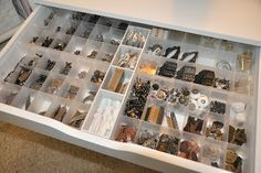 Richele Christensen: My Studio and getting organized.- Great idea for storing the little things using Basic Bead Container from Michael's.