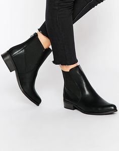 Image 1 ofNew Look Flat Chelsea Boots