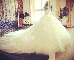 huge wedding dresses MADE WHITE AB CRYSTAL 250CM WIDE BIG