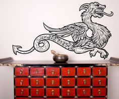 Vinyl Wall Decal Sticker Asian Dragon Creature #1217 | Stickerbrand wall art decals, wall graphics and wall murals.