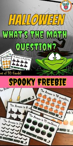 Halloween math free resource. Get students creating spooky math word problems. #halloweenmath #wordproblems #education