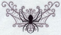 Spider Web Spray Embroidered Flour Sack by EmbroideryEverywhere, $13.99