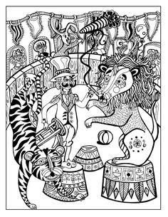 Coloriage Adulte Cirque.315 Meilleures Images Du Tableau Coloriage Cirque Crayon Art