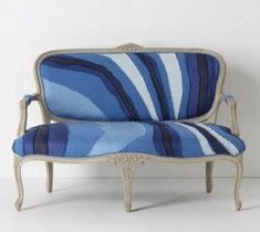 Settees could be very stuffy, but the fabric, which I