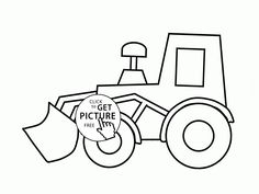 Simple Excavator Coloring Page For Kids Transportation Pages Printables Free