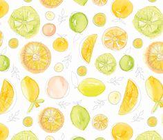 Citron fabric by nancierowejanitz on Spoonflower - custom fabric