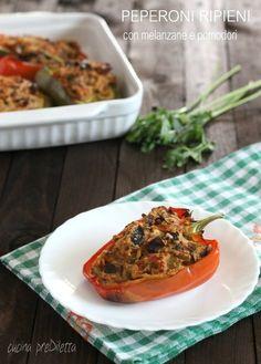 Peperoni ripieni con melanzane e pomodori - cucina preDiletta