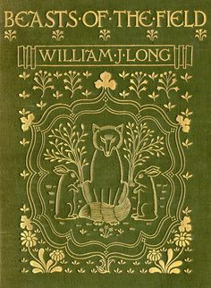 original green cloth with beautiful gilt detail  Beasts of the Field William J Long 1901