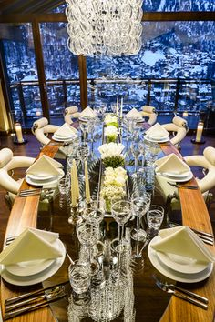 Chalet Zermatt Peak is not only a 6 star luxury chalet for rent but it is also the Zermatt's premier chalet with views over Zermatt and to the iconic Matterhorn. Zermatt, Tablescapes, Switzerland, Table Settings, Table Decorations, Luxury, Serenity, Mountain, Star