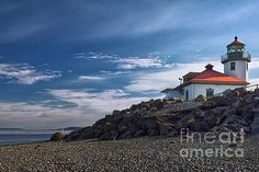 Alki Point Lighthouse by Joan Carrol