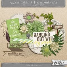 {Gone Fishin'} Elements No2 | A Little Giggle Designs
