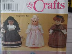 Simplicity 9136 pattern for 18 inch dolls by starsstore on Etsy