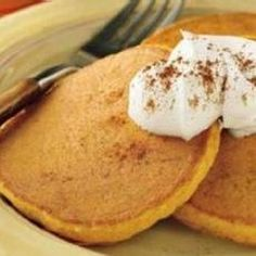 Pumpkin Pancakes...my daughter love these!