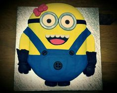 Minion cake for a girl