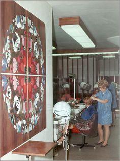 Poster DDR - Friseursalon für Frauen 1969