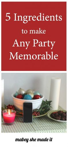 5 Ways to Make Any Party Memorable   Mabey She Made It   #partyplanning #party #FeelGlade #CG