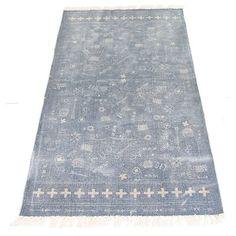 Uniek petrolblauw tapijt
