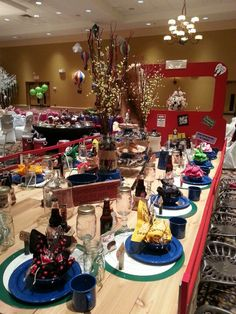 """This is a tablescape that I did for a local fundraising event. Table is called """"Shotgun Wedding""""."""