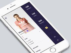 profile-menu page concept 51/90