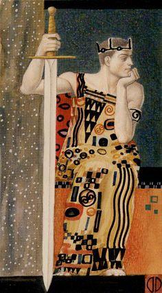 King of Swords - Tarot de Klimt par A. Atanassov