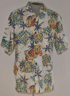 Greatland Shirt L Mens Hawaiian White Floral 100% Cotton Short Sleeve #Greatland #Hawaiian free shipping auction starting at $12.99