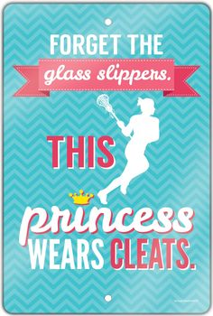This is the perfect lax room sign for your lacrosse princess! It is an awesome girls lacrosse gift for any lax girl.