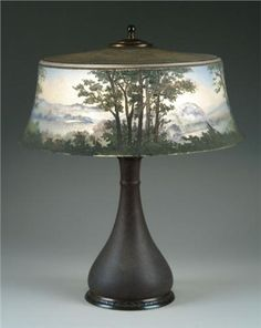PAIRPOINT SCENIC TABLE LAMP for you cottage/cabin