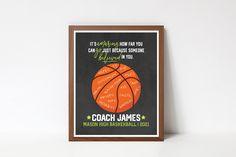 Custom Basketball, Basketball Teams, Printable Quotes, Printable Wall Art, Coach Christmas Gifts, Team Word, Coach Appreciation Gifts, Choose Quotes, Senior Night Gifts