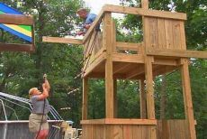 Backyard playhouse and playset tutorial