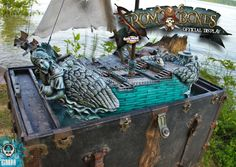 Hot out of the galley, here is the official display/demo table for Rum and Bones, a board game of ship to ship combat by CoolMiniorNot . Arcadia Quest, Rum, Madness, Board Games, Bones, Things To Do, Studios, Scenery, Miniatures