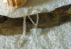 Sea glass necklace. Key to my heart by EgyptianInspirations, $24.99