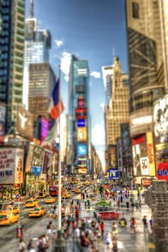 Times Square Tilt Shift HDR